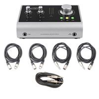 Audient iD14 Audio Interface w/ Audio Cables & Guitar Instrument Cable