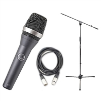 AKG D5 Vocal Hand-Held Microphone with Mic Stand and XLR Cable