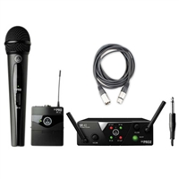 AKG WMS 40 Mini Mixed Guitar And Vocal Wireless System with AxcessAbles 20ft XLR Cable
