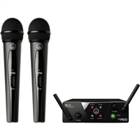 AKG WMS 40 Mini Dual Vocal Wireless System, AKGWMS40MINI2V45A, WMS40MINI2V45A
