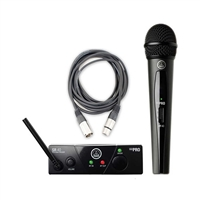 AKG WMS 40 Mini Vocal Handheld Wireless Microphone System (Band 45 C, 662.300 MHz) with XLR Cable