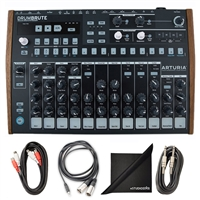 Arturia DrumBrute Analog Drum Machine w/ AxcessAbles Cable Pack