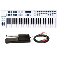 Arturia KeyLab 49 Essential Universal MIDI Controller w/ AxcessAbles Sustain Pedal and Audio Cable