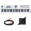 Arturia KeyLab Essential 61 Universal MIDI Controller, Software and Free AxcessAbles Midi Cables