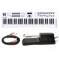 Arturia KeyLab 61 Essential Midi Controller w/ AxcessAbles Sustain Pedal and Midi Cables