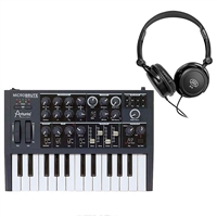 Arturia Micro Brute 25 Mini Key Analog Synthesizer + Sennheiser HD201 Headphones