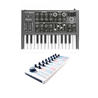 Arturia MicroBrute Mini Analog Synthesizer with Arturia Beatstep MIDI Controller