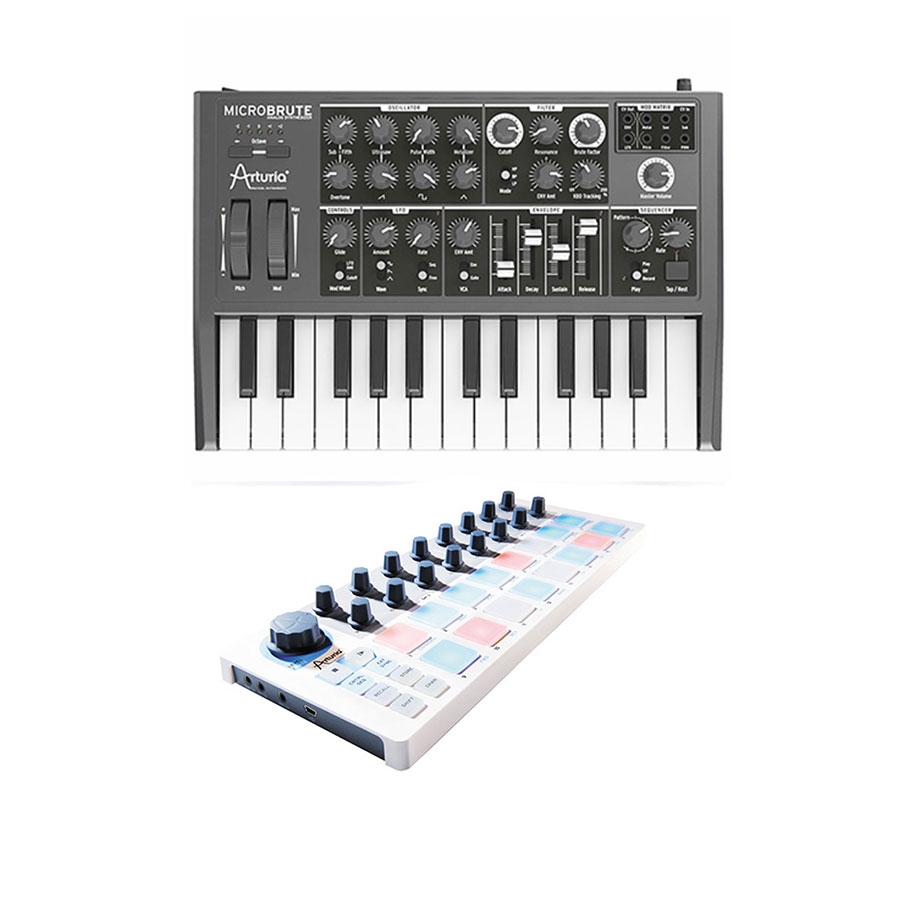 Details about Arturia MicroBrute Mini Analog Synthesizer with Arturia  Beatstep MIDI Controller