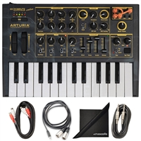 Arturia MicroBrute Analog Synthesizer - Creation Edition w/ AxcessAbles Cable Pack