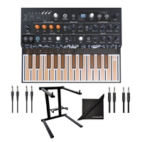 Arturia MicroFreak Hybrid Analog/Digital Synthesizer w/ AxcessAbles Audio Cables, Laptop Stand and eStudioStar Polishing Cloth