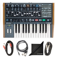 Arturia MiniBrute 2 Semi-modular analog Synthesizer w/ AxcessAbles Cable Pack