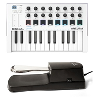 Arturia MINILAB MKII Keyboard w/ AxcessAbles Sustain Pedal