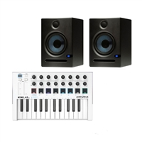 Arturia MINILAB MKII Keyboard and 2  Eris E5 Studio Monitoring Speakers