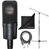 Audio-Technica AT4040 Cardioid Condenser Microphone w/ AxcessAbles XLR Cable, Micorphone Stand and eStudioStar Polishing Cloth