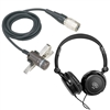 Audio Technica AT829CW Lavalier Microphone w/ Stereo Headphones