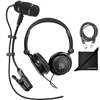 Audio-Technica Pro 35 Cardioid Clip-On Microphone w/ AxcessAbles Headphones, XLR Audio Cable and eStudioStar Polishing Cloth