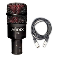 Audix D4 Kick/Bass Drum Microphone w/ 20ft XLR Cable