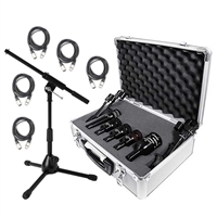 Audix DP5a 5 Piece Drum Kit Package w/ XLR Cables and Stand, AUDXDP5A-Bundle-3, XDP5A