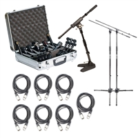 Audix DP7 7 Piece Drum Package with 3 Stands and 7 XLR Cables