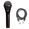 Audix OM3 Dynamic Vocal Handheld Instrument Mic with 20ft XLR Cable, AUDXOM3-Bundle-1, XOM3
