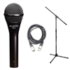 Audix OM3 Dynamic Vocal Mic with 20ft XLR Cable and Stand, AUDXOM3-Bundle-2, XOM3