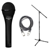 Audix OM5 Hypercardioid Dynamic Mic with 20ft XLR Cable and Stand, AUDXOM5-BUNDLE-2, XOM5