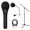 Audix OM7 Microphone Bundle with Mic Boom Stand, XLR Cable and Pop Filter Popper Stopper, AUDXOM7-BUNDLE-5, XOM7