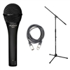 Audix OM7 Hypercardioid Dynamic Mic with 20ft XLR Cable and Stand, AUDXOM7-Bundle-2, XOM7