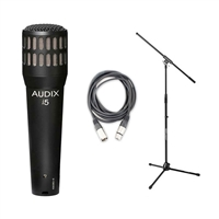 Audix i5 Dynamic Instrument Cardioid Mic w/ 20ft XLR Cable and Boom, AUDXi5-Bundle-2, Xi5