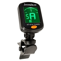 AxcessAbles AT-01A Clip-On Guitar Tuner for Chromatic Guitar Bass Ukulele Violin