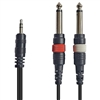 AxcessAbles DTS14-DRCA101 Dual 1/4 in TS to Dual RCA 1M