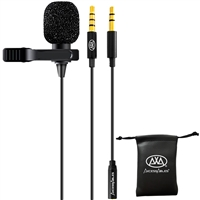 AxcessAbles LAV-C Lavalier Lapel Condenser Clip-On Microphone for PC, Mac & Android Mobile Devices