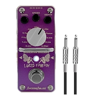 AxcessAbles LUCID FANTASY Modulation Ensemble Guitar Pedal w/ AxcessAbles Snap Connector and Instrument Cable