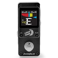 AxcessAbles LUNAR TUNER Mini-Stomp Chromatic Digital Tuner for for Guitar/Bass or ANY String Instrument