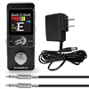 AxcessAbles Lunar Tuner Mini-Stomp Chromatic Digital Tuner for Guitar, Bass w/ Power Supply and Cable
