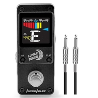 AxcessAbles LUNAR TUNER  Mini-Stomp Chromatic Digital Tuner w/ AxcessAbles Snap Connector and Instrument Cable