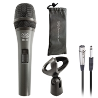 AxcessAbles MC-20 Professional Dynamic Cardioid Vocal Wired Microphone, Metal Chassis Handheld Mic with 10-ft XLR to TS Cable for Speaking Engagements, Stage Performances or Karaoke Fun