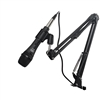 AxcessAbles Dynamic Podcast Mic XLR Cable Bundle Live Studio Recording Desktop Boom Arm
