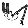 AxcessAbles MX-100 Professional Cardioid Studio Condenser XLR Mic with Desktop Tripod Stand, Shock Mount, Swivel Boom Desktop Mount Arm and Pop Filter, Studio Recording & Broadcasting