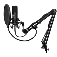 AxcessAbles Condenser Microphone Cable Bundle Live Studio Podcast Recording Boom Arm