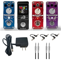 AxcessAbles Guitar Pedals w/ Audio Cables and Power Supply