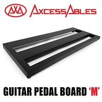 AxcessAbles DX STEP Guitar Pedal Board, Double Space Aluminum Alloy with Carry Bag