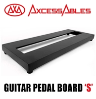 AxcessAbles Guitar Pedal Board S Single Space Aluminum Alloy Guitar Pedal Board with Carry Bag