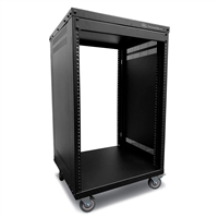 AxcessAbles RK16U Universal Equipment 16-Space Rolling Cabinet Rack