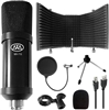 AxcessAbles MX-715 USB Condenser Microphone with Desktop Isolation Shield Set