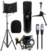AxcessAbles MX-100 Studio Microphone with Recording Studio Isolation Shield Kit