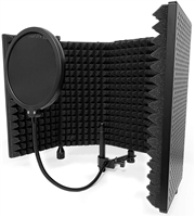 AxcessAbles SF-101VB Vented Recording Studio Microphone Isolation Shield (Black)