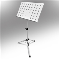 AxcessAbles Orchestra Conductor Sheet Stand Height & Angle Adjustable (White)