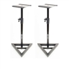 AxcessAbles SMS101 Heavy Duty Studio Monitor Speaker Stands Pair Open Box USED