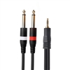 "AxcessAbles TRS18-D14TS109 Audio Cable - 3.5 mm TRS to Dual 1/4"" TS Stereo Breakout Cable (10ft)"